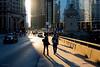 Light Leak (Andy Marfia) Tags: chicago loop wackerdr michiganave light sun shadow pedestrians walking cars traffic d7100 1685mm 1100sec f8 iso100
