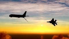 Refueling_19 (The_SkyHawk) Tags: world f15 eagle usaf refueling air force dcs digital combat simulator flight flying jets aviation virtual flightsim