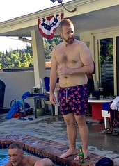 IMG_6451 (danimaniacs) Tags: shirtless man guy hot sexy beard scruff swimsuit shorts trunks swimmingpool