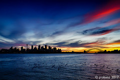 Twilight Over The Sydney Skyline (orgazmo) Tags: australia sydney sydneyharbour sydneycbd harbourbridge sunsets sundown twilight skylines sky skyscapes clouds outdoors nsw newsouthwales cityscapes city olympus omd em1mk2 mzuiko12100mmf4ispro micro43s m43s mft downunder silhouettes landscapes