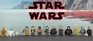LEGO Star Wars: The Last Jedi - Custom Painted Minifigures