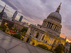 after the rain comes sun (Wizard CG) Tags: uk london one new change rooftop view terrace handrail balcony landmark vista jean nouvel st pauls cathedral architecture building united kingdom great britain gb england europe sunset sky olympus epl7 ngc world trekker monument