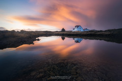 I C E L A N D I C (fran.llano) Tags: sunset iceland reflection autumn colors nature clouds sky