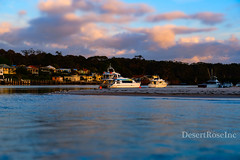 boating in the bay (1DesertRose) Tags: coastal coast blue cool season jervisbay australia clouds sky water waves surf sand spring nsw birds sea sunrise resting river ocean boats boat