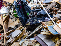 Ground Coffee (Steve Taylor (Photography)) Tags: coffee canopy cafe demolition newzealand nz southisland canterbury christchurch cbd city earthquake 22february2011 broken damage smashed quake