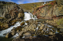 A Stream of Life! (_Amritash_) Tags: stream water waterfall glacialmelt glacialstream landscape landscapes iceland rocks streamofglacialmelt travel longexposure astreamoflife cascade
