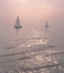 The ocean in me (WinRuWorld) Tags: ocean water sky sunrise boat yacht mist pink soft dreamy atmosphere scenery waterscape light canon canonphotography delicate outdoors blur simplicity minimalist ethereal seashore shore minimalism minimalistphotography