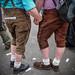 Traditional Bavarian Lederhosen at Berlin Gay Parade