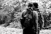 ready to hike (jellamalo) Tags: nature hike river adventure blakandwhite