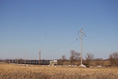 IARR Ackley (eslade4) Tags: iarr iowariverrailroad ackley coveredhoppers tankcars exiac exmstl excnw