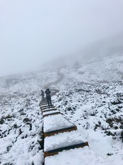 It's called Stairway to heaven! Real name Cuilcagh Mountain County Fermanagh . Northern Ireland (Mgk56) Tags: natureporn nature frozen fingertips jackfrost ice foggy misty cofermanagh northernireland wonderland winter snow mountains hiking