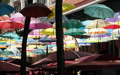 it's raining umbrellas in port louis (kexi) Tags: mauritius ilemaurice africa portlouis many colors umbrellas samsung wb690 october 2016 instantfave