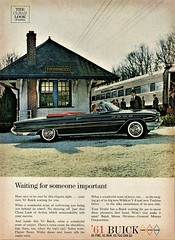 1961 Buick Electra 225 Convertible (aldenjewell) Tags: 1961 buick electra 225 convertible new york central thornwood train station ad