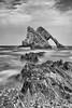 BowFiddleRock1 (johnawatson) Tags: beautiful beauty longexposure rock scotland portknockie bowfiddlerock moray banffshire seascape coast cliffs morayfirth canon550d efs24mmf28stm blackandwhite monochrome sea