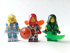 LoH-Red, Green and Blue (slight.of.brick) Tags: lego superhero minifig league heroes 玉龍