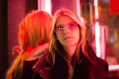 My reflection (Pawel - Photography) Tags: girl beauty blonde young night pretty blackandwhite london photography photojournalism stranger slim tall rock blues midnight fashion cute lonely grey street city people portrait streetphotography pink light