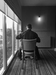 Hotel life (raymorgan4) Tags: breakfast meal man restaurant food solo blackandwhite eating iphone dinner alone hotel premierinn 6s lancaster traveller coffee diner
