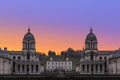 Pastle Skys Over Greenwich (JH Images.co.uk) Tags: london sunrise royal navel college royalnavelcollege greenwich symmetry symmetric hdr dri pastle