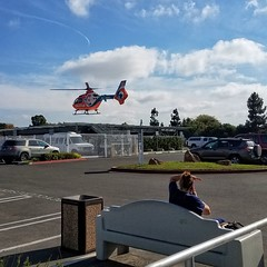 helicopter calstar eurocopter ec135 ems nemspa heliport... (Photo: Viejito on Flickr)