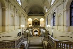 University Of Vienna (CoolMcFlash) Tags: university vienna architecture building indoors symmetry symmetrie symmetrisch stairs hall universität wien architektur gebäude innenaufnahme stufen treppen halle fotografie photography canon eos 60d sigma 1020mm 35