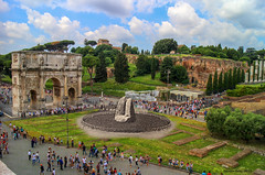 Arch of Constantine in 2016, and the remains of Meta Sudans in about 1920-30. Rome (Ramon Oria) Tags: arch constantine archofconstantine constantine´sarch arco de constantino arcodeconstantino domiciano coliseo colisseo meta sudans metasudans fuente fountain fuenteromana romanfountain roma imperio romano rome via triunfal viatriunfal viatriumphalis triumphalis flavian colosseum colosseo fontana tito trionfale