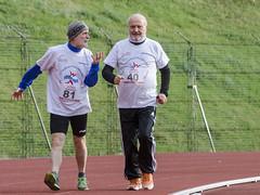 il maratoneta Sergio Domizi a sostegno del Presidente Arnaldo Porro