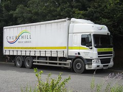 Churchill Freight Services of Chichester HY11UHG (harryjaipowell) Tags: churchillfreightservices truck lorry hgv chichester cf daf cf65 curtainside hy11uhg marketroad battle eastsussex battlecoachpark