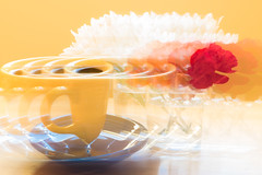 Intentional Camera Movement (shannon_blueswf) Tags: intentional camera movement intentionalcameramovement cameramovement fineart photochallengeorg photochallenge photochallenge2017 nikon nikond3300 nikonphotography flowers coffee coffeecup saucer tea morning yellow red blue indulge