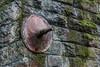 Rusty (mikeplonk) Tags: railway railwaybridge taffvalerailway merthyrline abercynon coedycwm steel claycrossductile bolt structure engineering rusty moss green nikon d5100 18140mm southwales stone