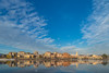 Another point of view (iLaura_) Tags: sestocalende landscape sky clouds water river town reflections panorama cielo nuvole case paese riflessi fiume