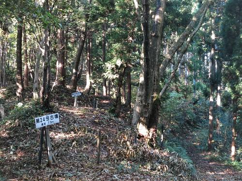 ridge line on Mt. Atago, graves 1500-1600 years old
