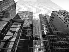 Life is but a dream (C@mera M@n) Tags: architecture blackandwhite city financialdistrict manhattan monochrome ny nyc newyorkcity newyorkphotography place reflection buildings outdoors