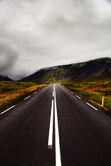 Follow the Road (noah.gerullis) Tags: iceland snaefellsnes ice cold winter autumn beautiful green roadtrip road black contrast structure follow trip vacation