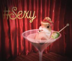 I'm too sexy for my fur... (Sparrow Michigan) Tags: hamster pet martini glass pinup 40s 1940s secondlife sl avatar beetlebones astralia anachron