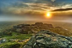 Fog in the moor (highflyer1964) Tags: dartmoor sonyilce landscape landschaft himmel ilce7m2 clouds devon sonyilce7m2 zeissbatis25f2 sonyalpha7m2 sunrise sonnenaufgang fog südengland grosbritannien wolken nebel