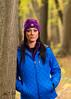 Cindy In Blue Jacket (cstsendit) Tags: nikond5300 nikonphotography crosslighting portrait outdoorportrait trees woods forest woman femalemodel columbia offcameraflash