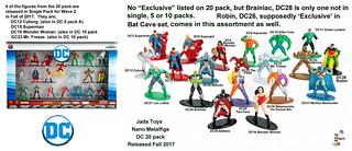 Jada Toys Nano Metalfigs - DC  20 pack - First Wave