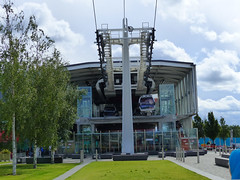 Emirates Air Line Cable Car Station (Kombizz) Tags: 1200304 kombizz 2017 travel olympianway london se10 riverthames emiratesairlinecablecarstation cablecarstation emiratesairlinecablecar thamesriver seascape cablecar emiratesairline doppelmayr tfl