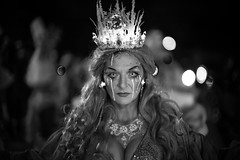The Queen (michael.mu) Tags: leica m240 50mm noctilux leicanoctiluxm50mmf095asph neworleans silverefexpro bw blackandwhite monochrome krampus louisiana krampusnolauf nola sistersofshhh parade streetphotography