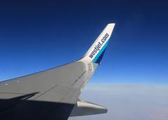 WESTJET to Vancouver (praja38) Tags: westjet wing plane air airplane canadian canada vancouver flight sky blue clouds