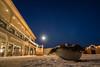 Stracta Hotel (boyd1960) Tags: moon iceland night hella sky snow