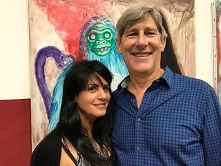 Collectors Marlen Pernetti and Michael Dorsch at Art Basel Miami Beach