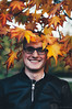 crown of leaves. (Nicole Favero) Tags: blu photography love cute cool awesome conceptual fall autumn park crazy portrait followme nikon nikond5000 camera reflex forever city milan town bench lorenzo friend people d5000 lens 50mm focus