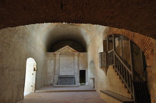 Chapelle, forteresse (XVe-XVIe), Salses, Corbières maritimes,   Roussillon, Occitanie, France.