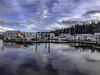 Marina Reflections (Tony Tomlin) Tags: crescentbeach britishcolumbia canada marina boats crabboats