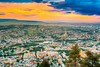 Tbilisi Georgia. Scenic Aerial Panoramic Cityscape With Beautiful Dramatic Yellow Sunset, Sunrise (altextravel) Tags: aerial aerialview architecture beautiful blue building caucasus city cityscape cloud cloudy country dawn dramaticsky dusk europe evening famous georgia hilly landmark landscape light nature nobody outdoor panorama panoramic scene scenic sights sightseeing sky skyline spring summer sunlight sunny sunrise sunset sunshine tbilisi topview tourism town travel unstock urban view yellow ge