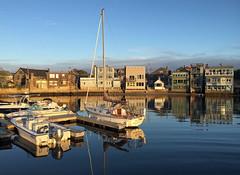 Rockport, Massachusetts (Miche & Jon Rousell) Tags: usa fall autumn massachusetts rockport bay ocean atlanticocean atlantic water cormorant boats blue