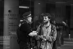 ^ (dagomir.oniwenko1) Tags: police england ua street style canon candid blackandwhite bw men male man mono people manchester