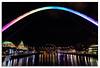 'Rainbow 'Millennium' Bridge', Newcastle Quayside (Graham Dobson Photography) Tags: gateshead milleniumbridge newcastle night quayside rivertyne sage tynebridge