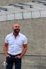 Hod (Levi Smith Photography) Tags: man men mens fashion shirt piano notes keys music smile beard handsome hot good looking guy dude laugh